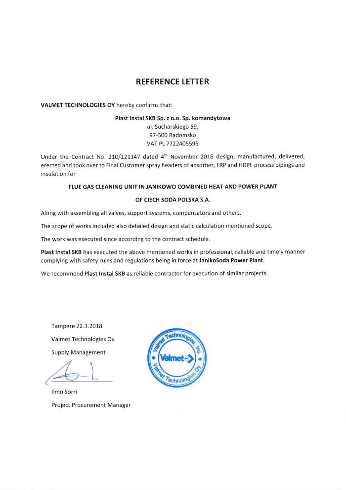 reference Valmet Technologies OY